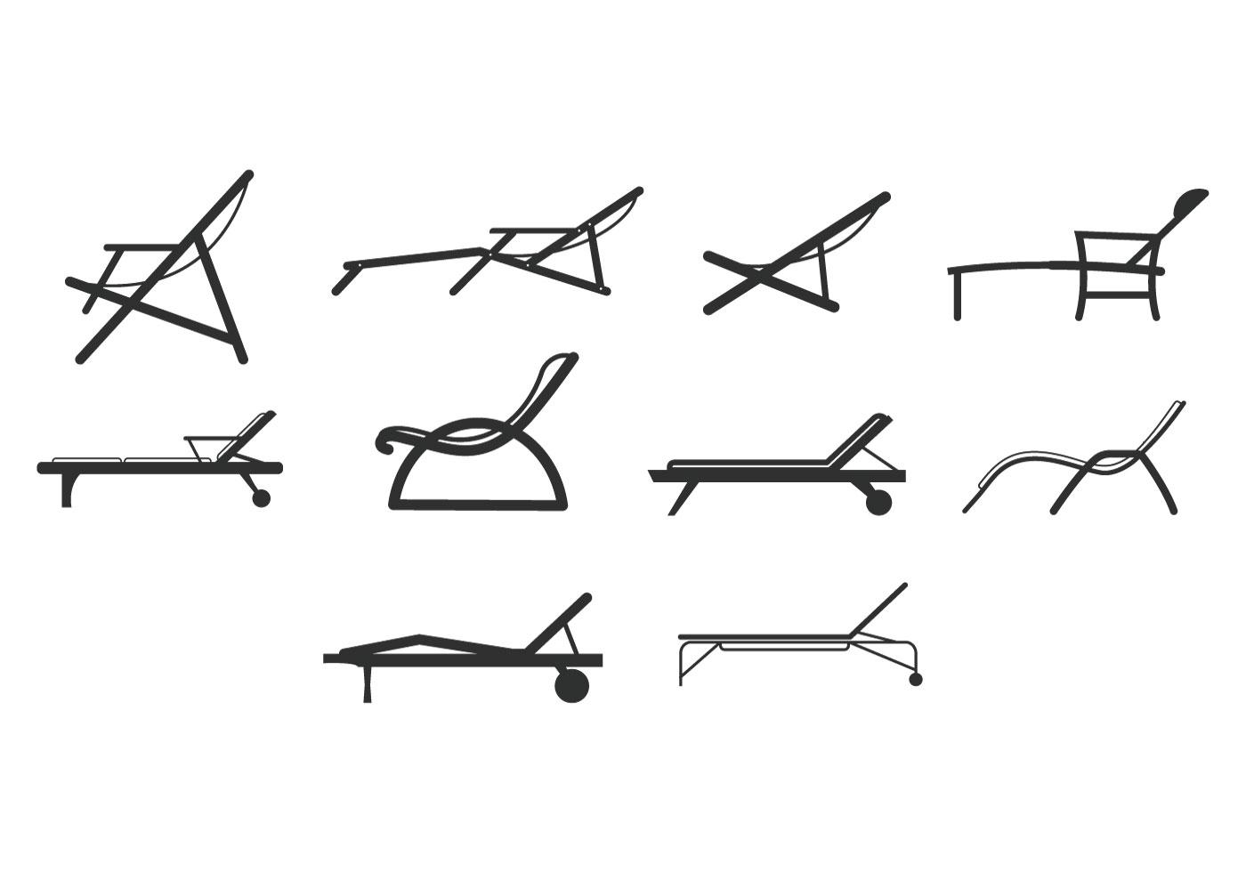 Free Beach Chair Icons