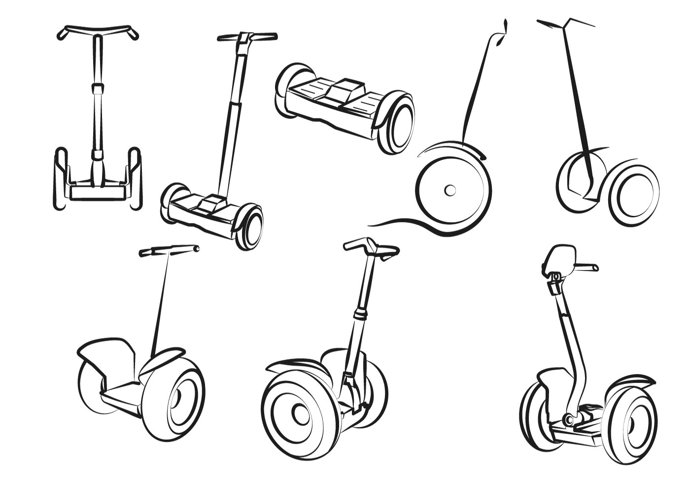 Free Set Of Electric Scooter