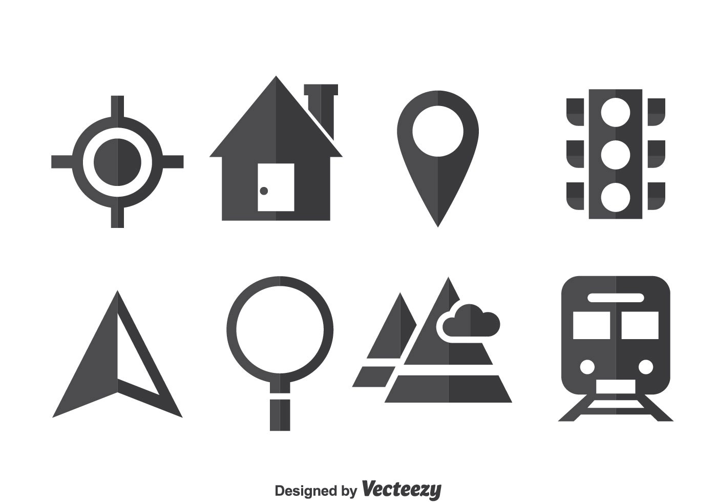 Map Legend Icons Vector