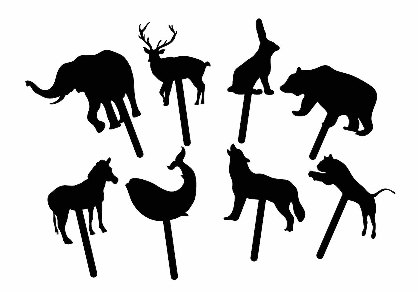 Animal Shadow Puppet Set