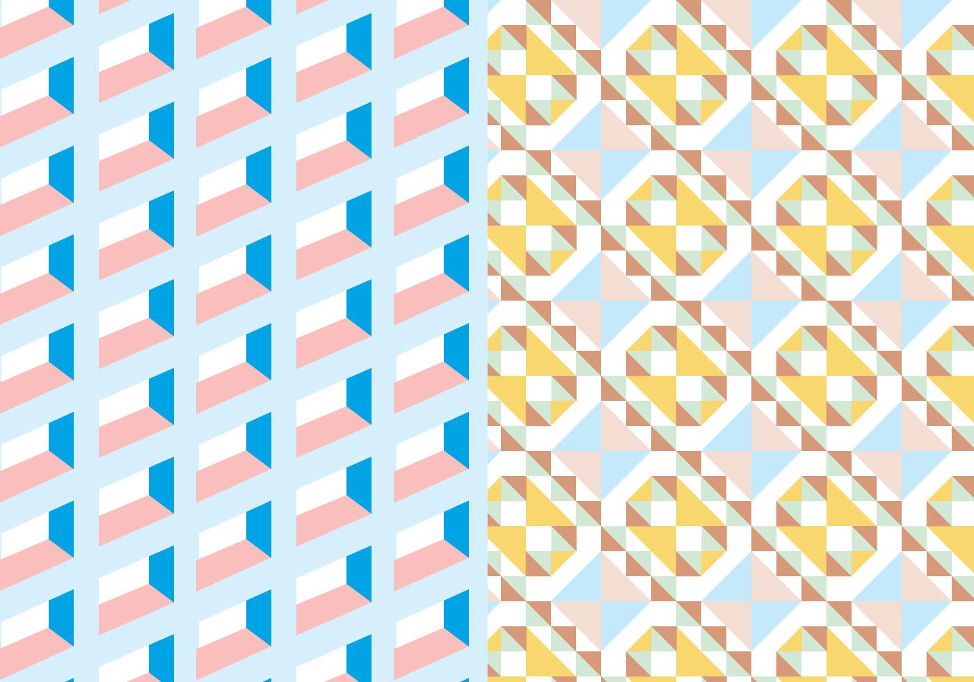 Pastel Square Geometric Pattern