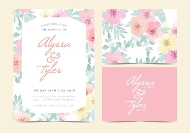 Wedding Invitation Free Vectors