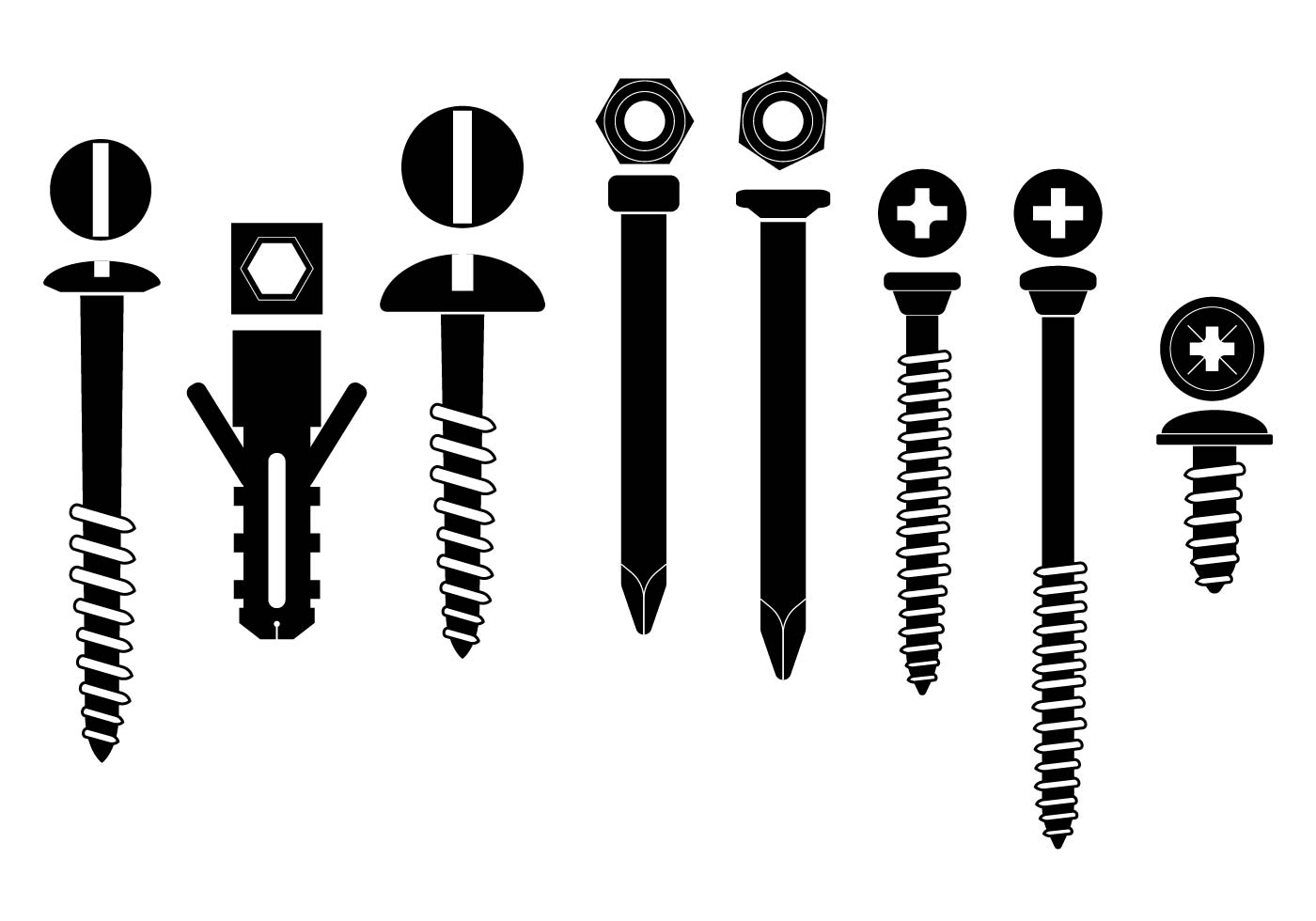 Black Hardware Vector Set