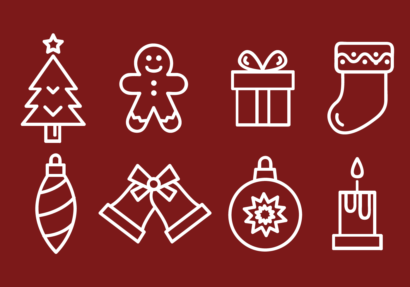 Free Christmas Icons Vector Download Free Vector Art