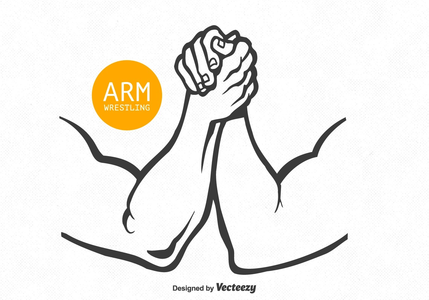 Arm Wrestling Free Vector Art