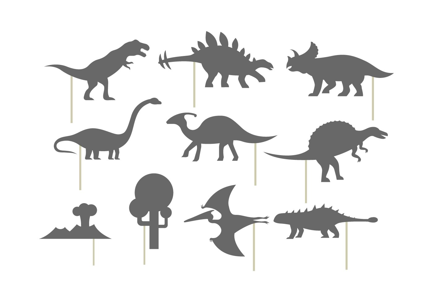 Shadow Puppet Of Dinosaurs
