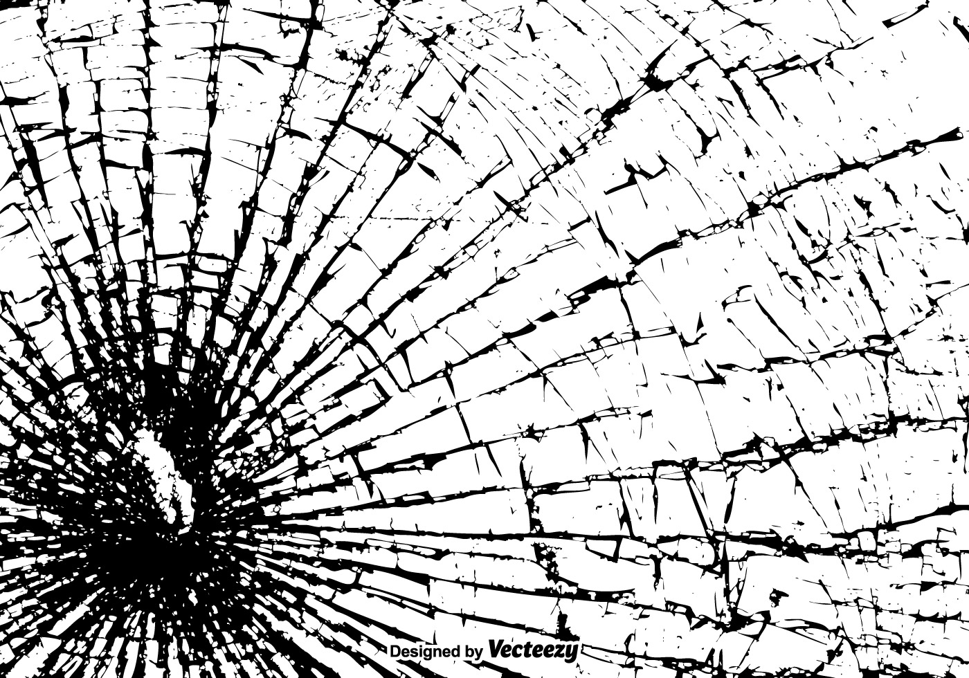 Free Vector Shattered Glass Texture