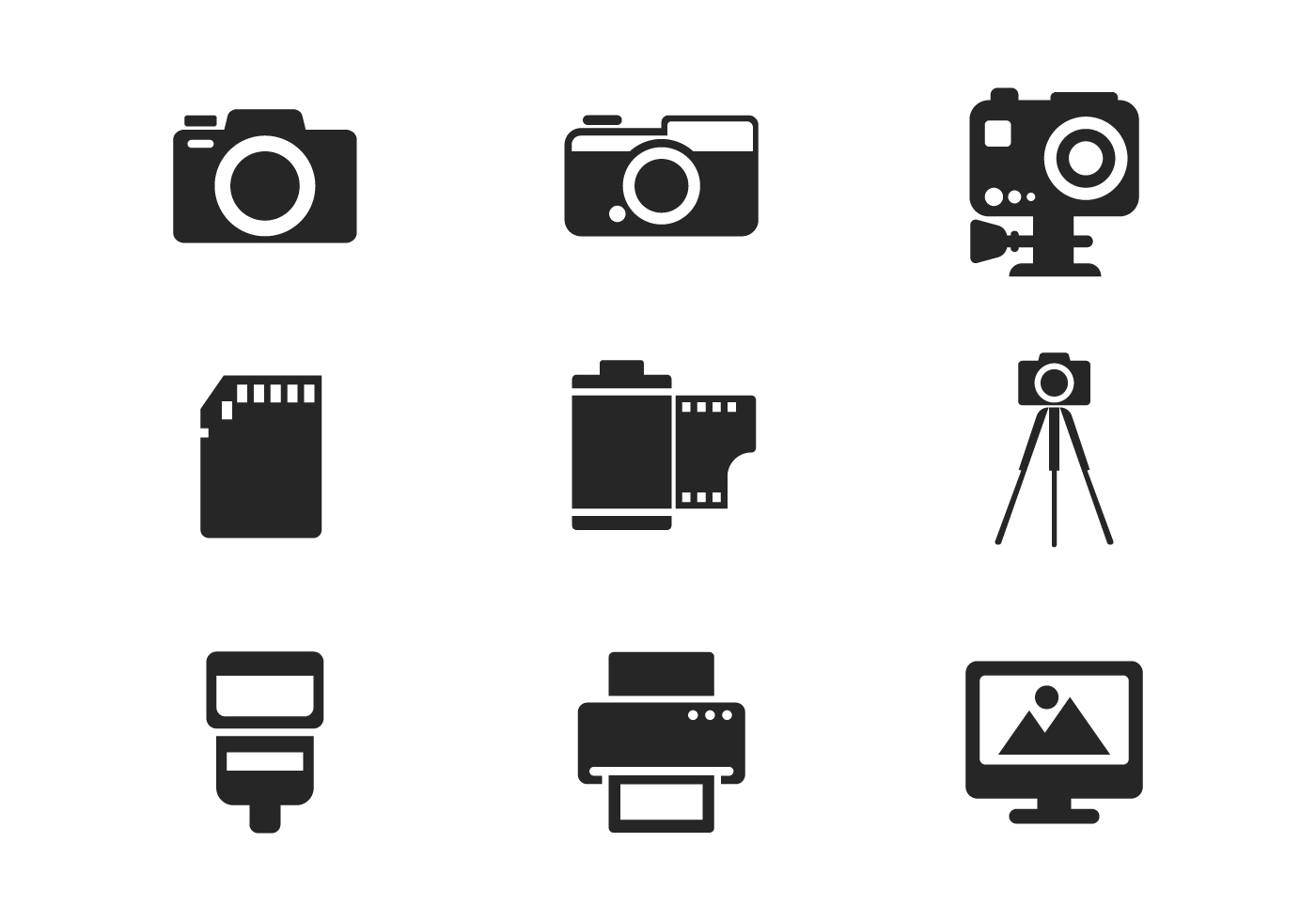 Camera And Photography Icon Vector