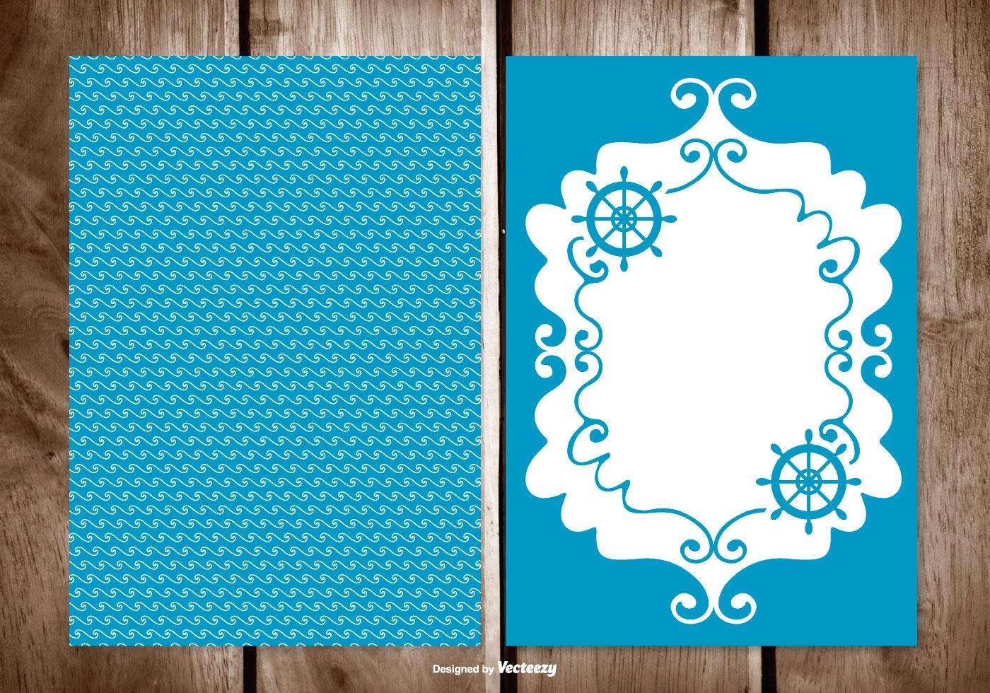 Blank Greeting Card Free Vector Art