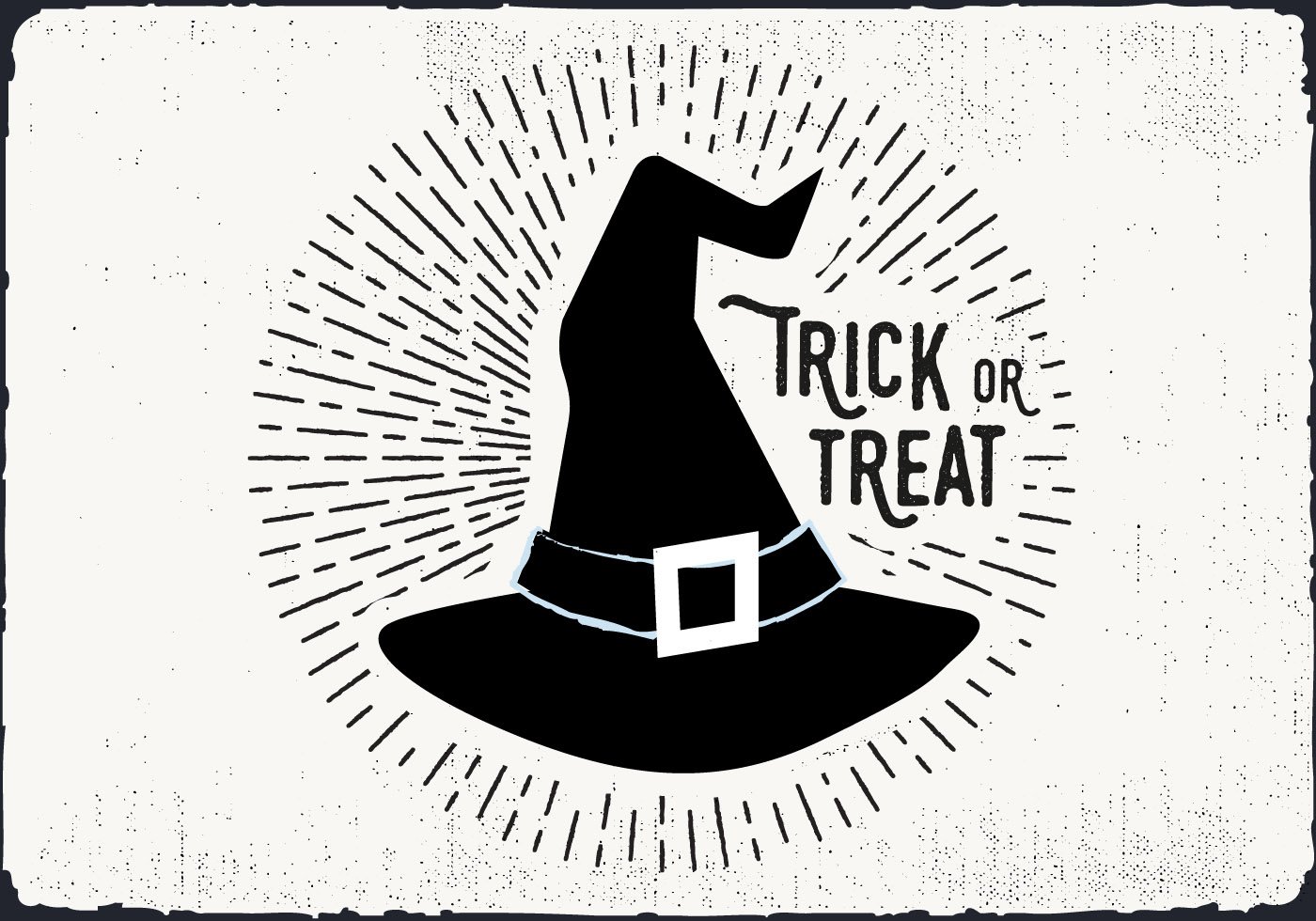 Witch Hat Trick Or Treat Illustration