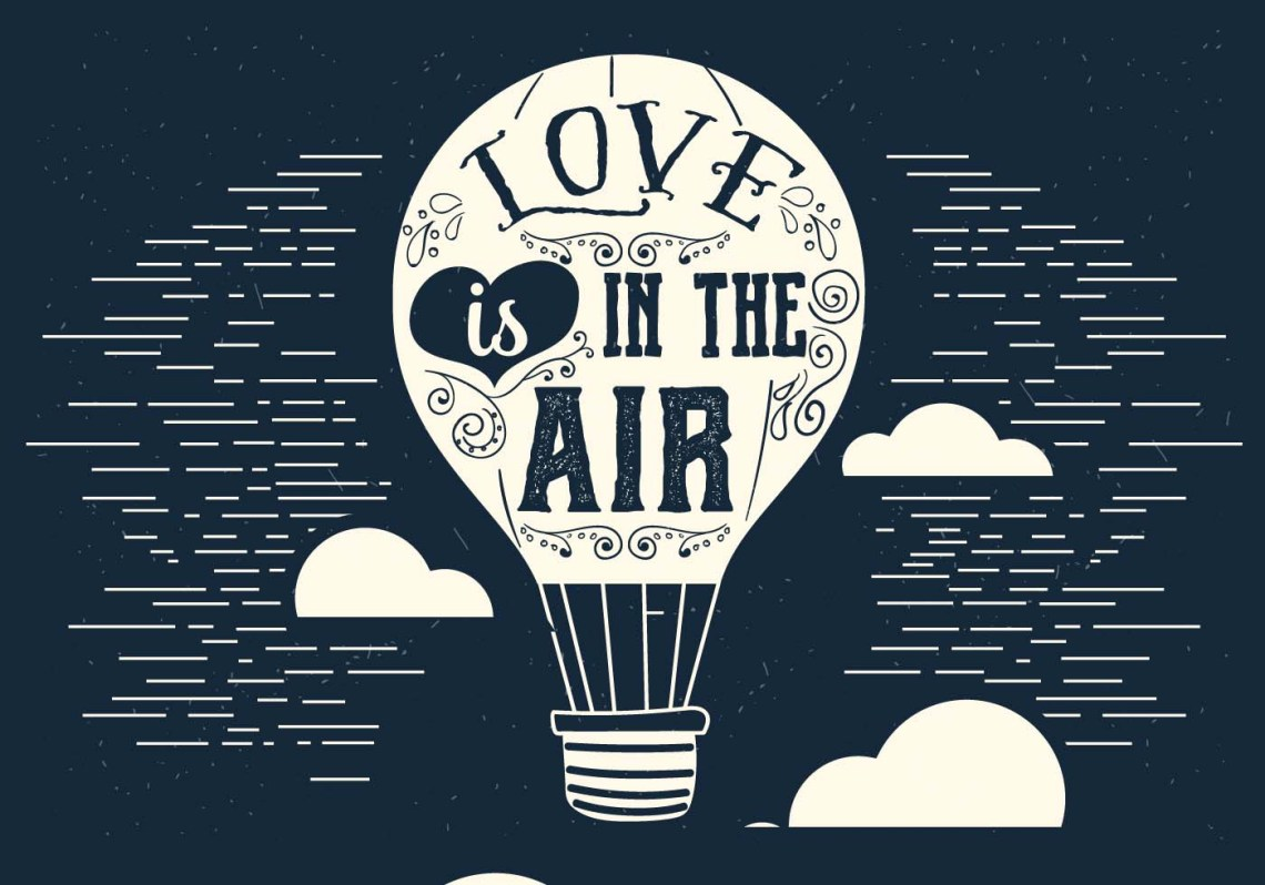 Download Love is in the Air Vector Air Balloon - Download Free ...