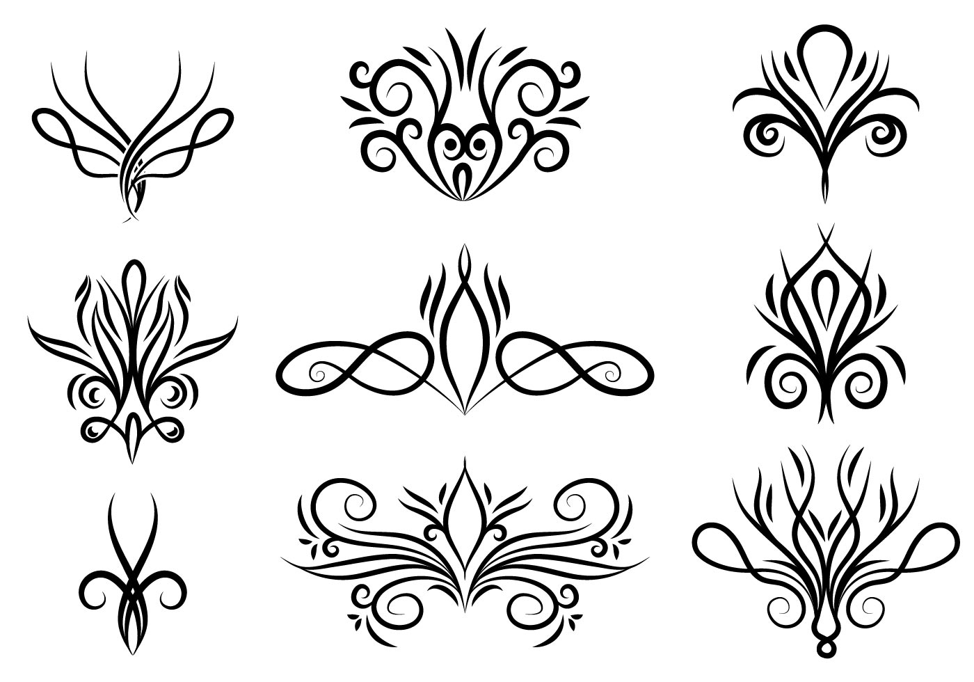 Swirls Free Vector Art