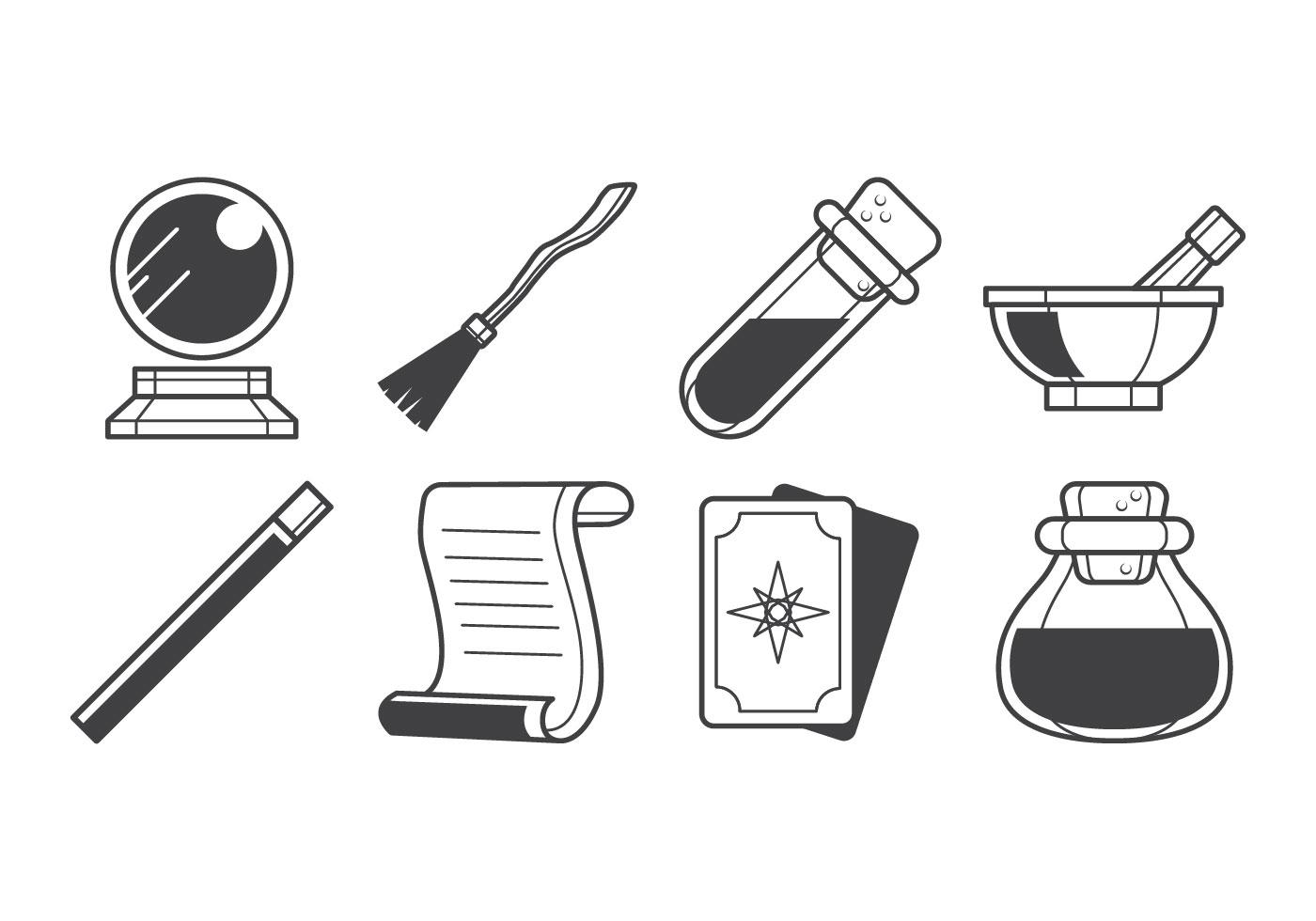 Magic Stuff Icon Vector