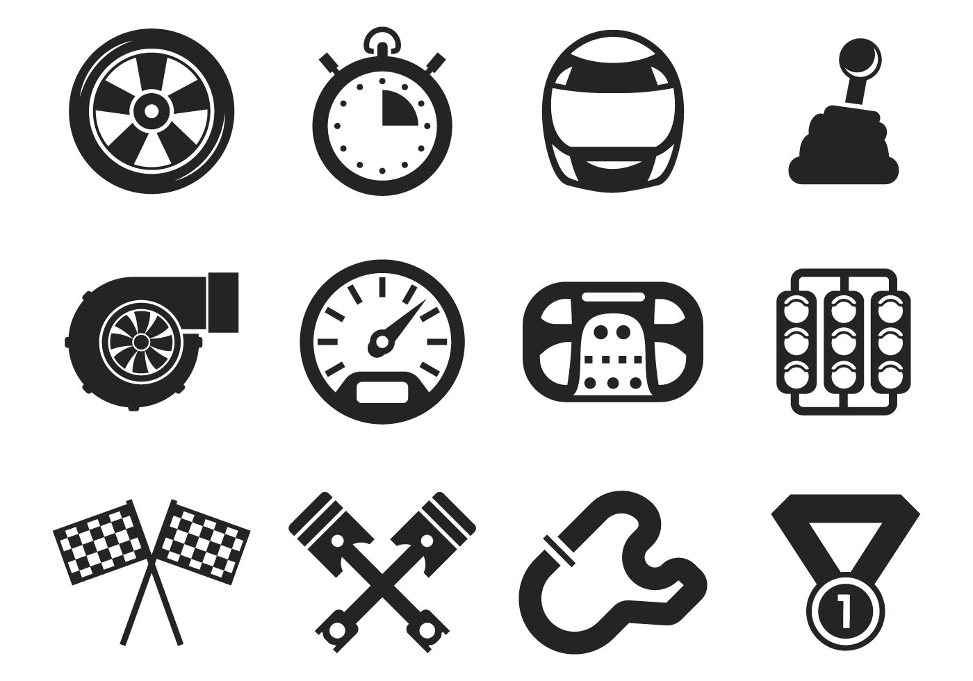 Race Car Icons Vector