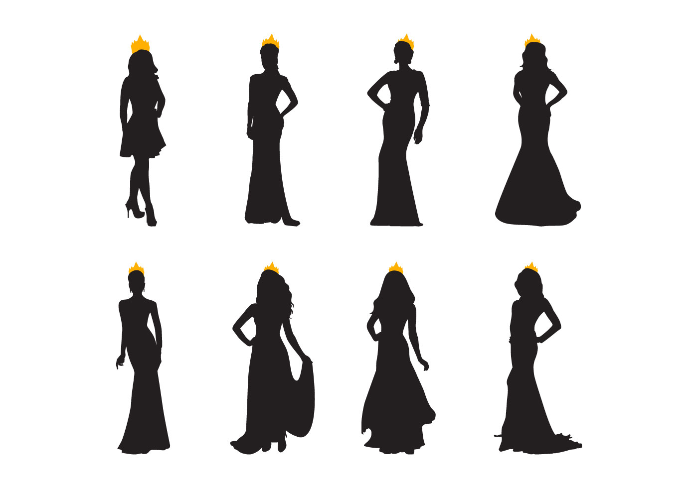 Free Pageant Silhouette Vector
