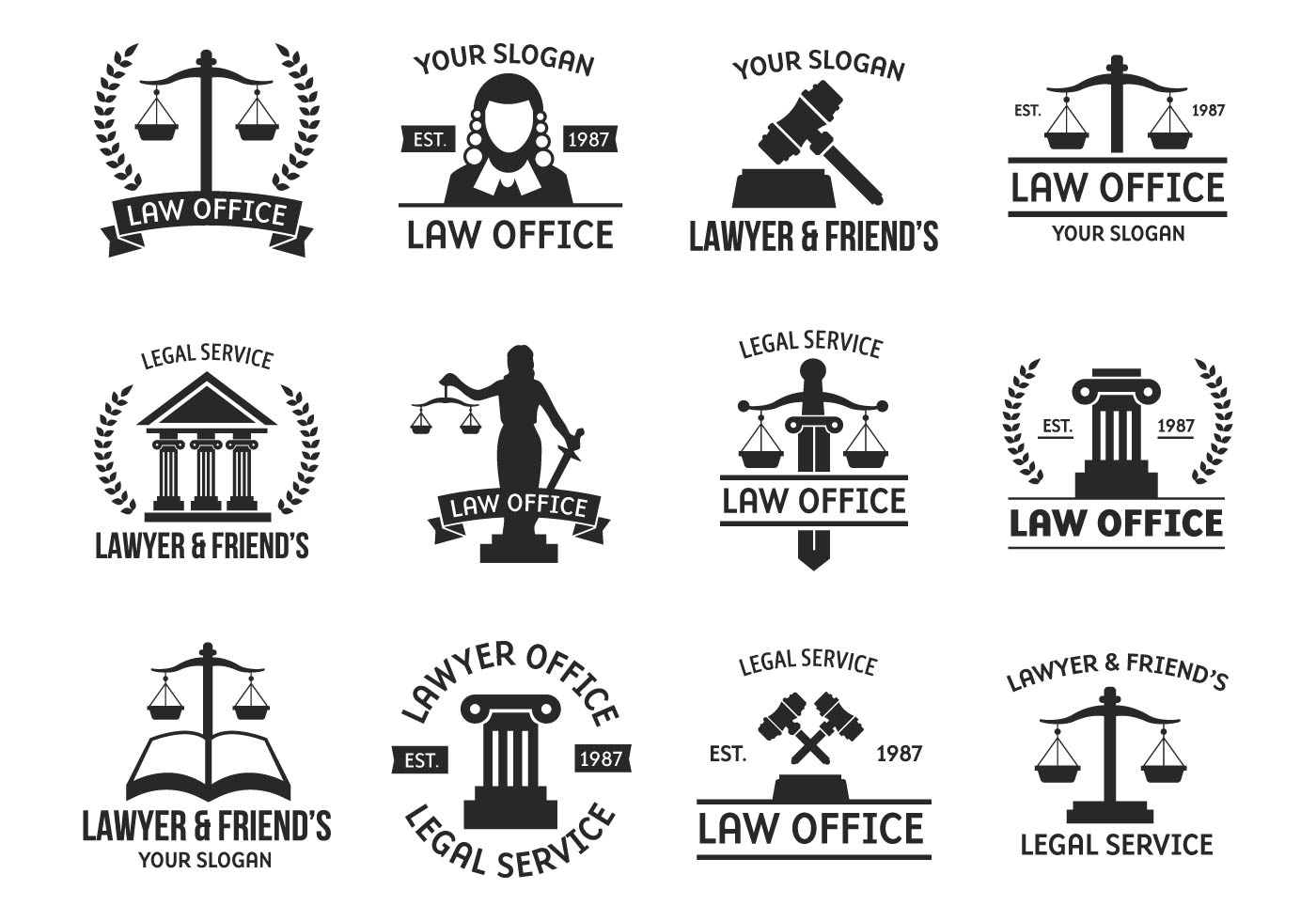 Template Logo Law Vector