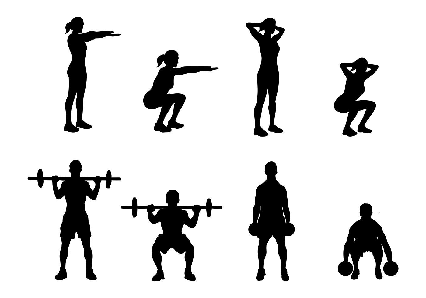 Free Squat Icons Vector