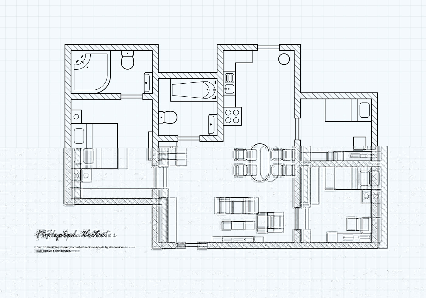 Floorplan Of A House Vector