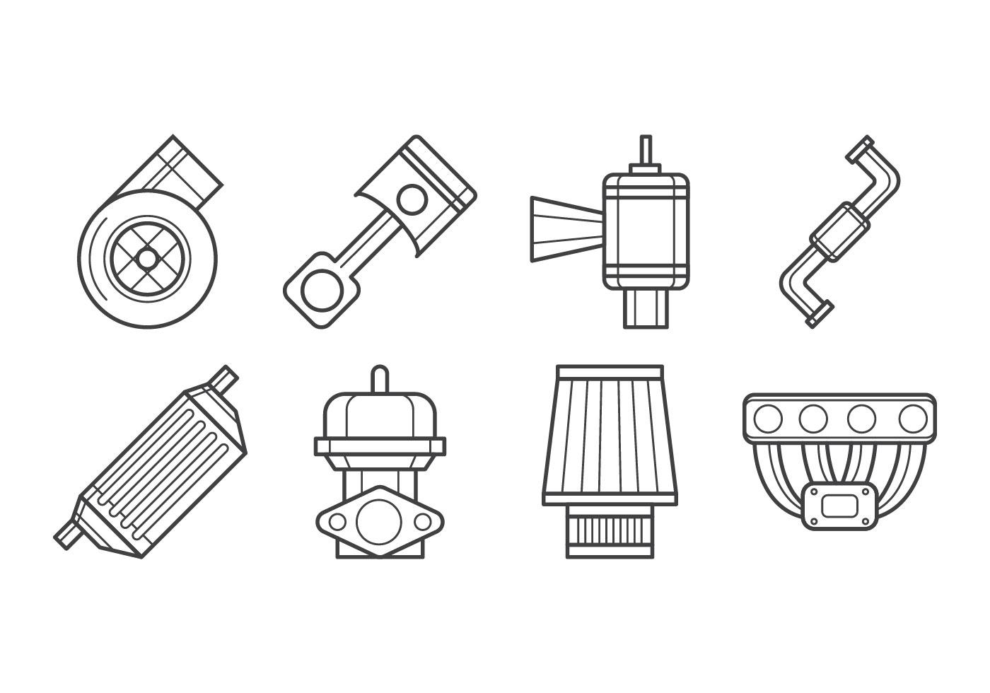 Turbo Kit Icon Vector