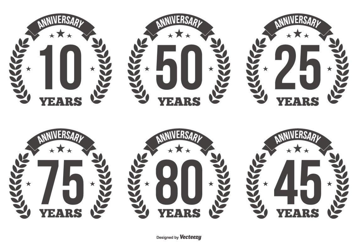 Download Anniversary Vector Labels - Download Free Vectors, Clipart ...