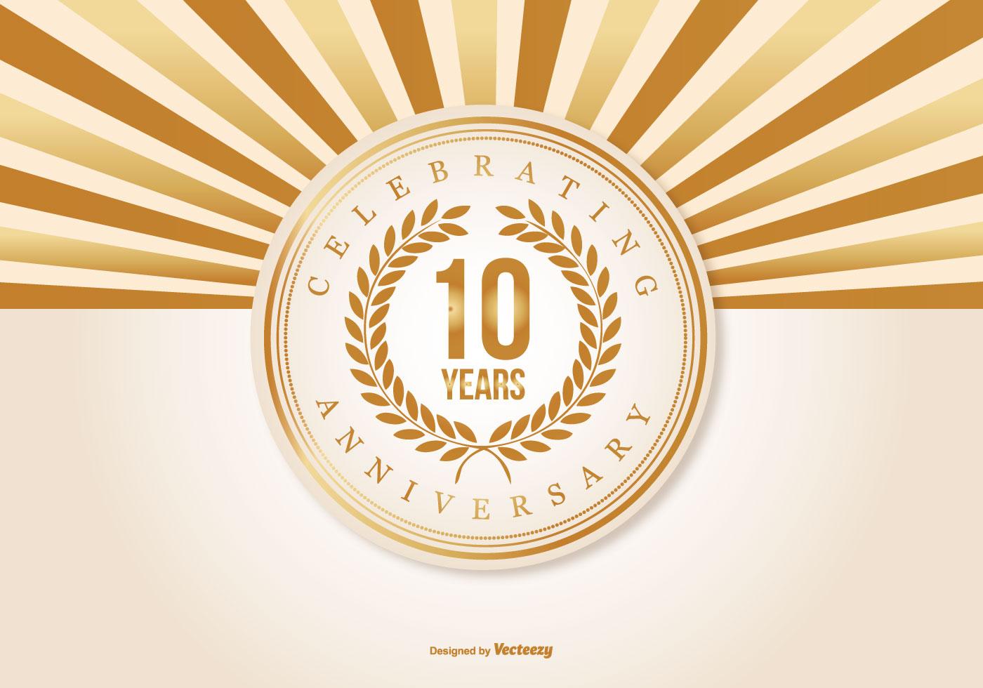 10 Years Anniversary Free Vector Art 12226 Free Downloads
