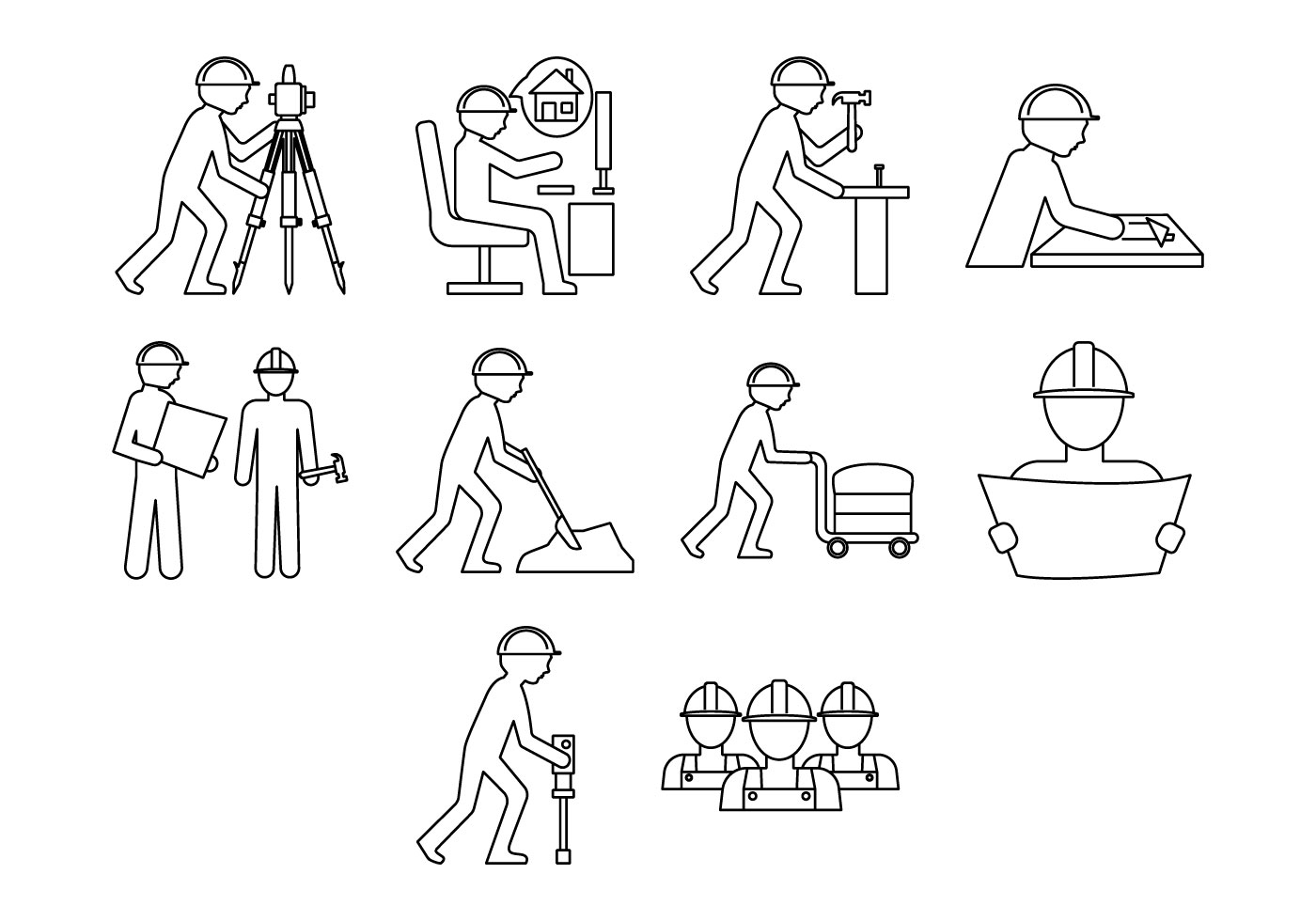 Free Civilwork Icon Vector