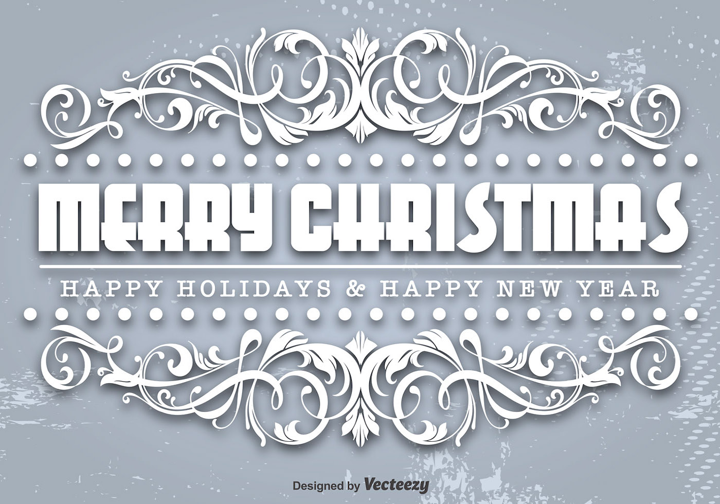 Ornamental Merry Christmas Template