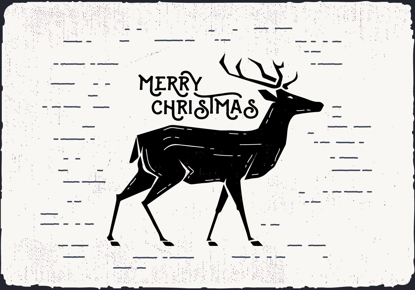 Free Christmas Deer Vector