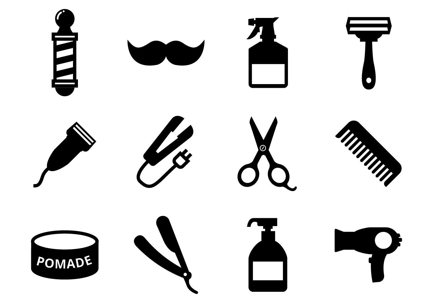 Barber Shop Free Vector Art