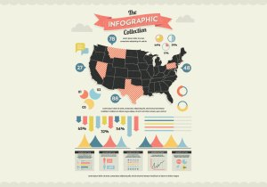 US Map Infographic Vector  Download Free Vector Art, Stock Graphics & Images