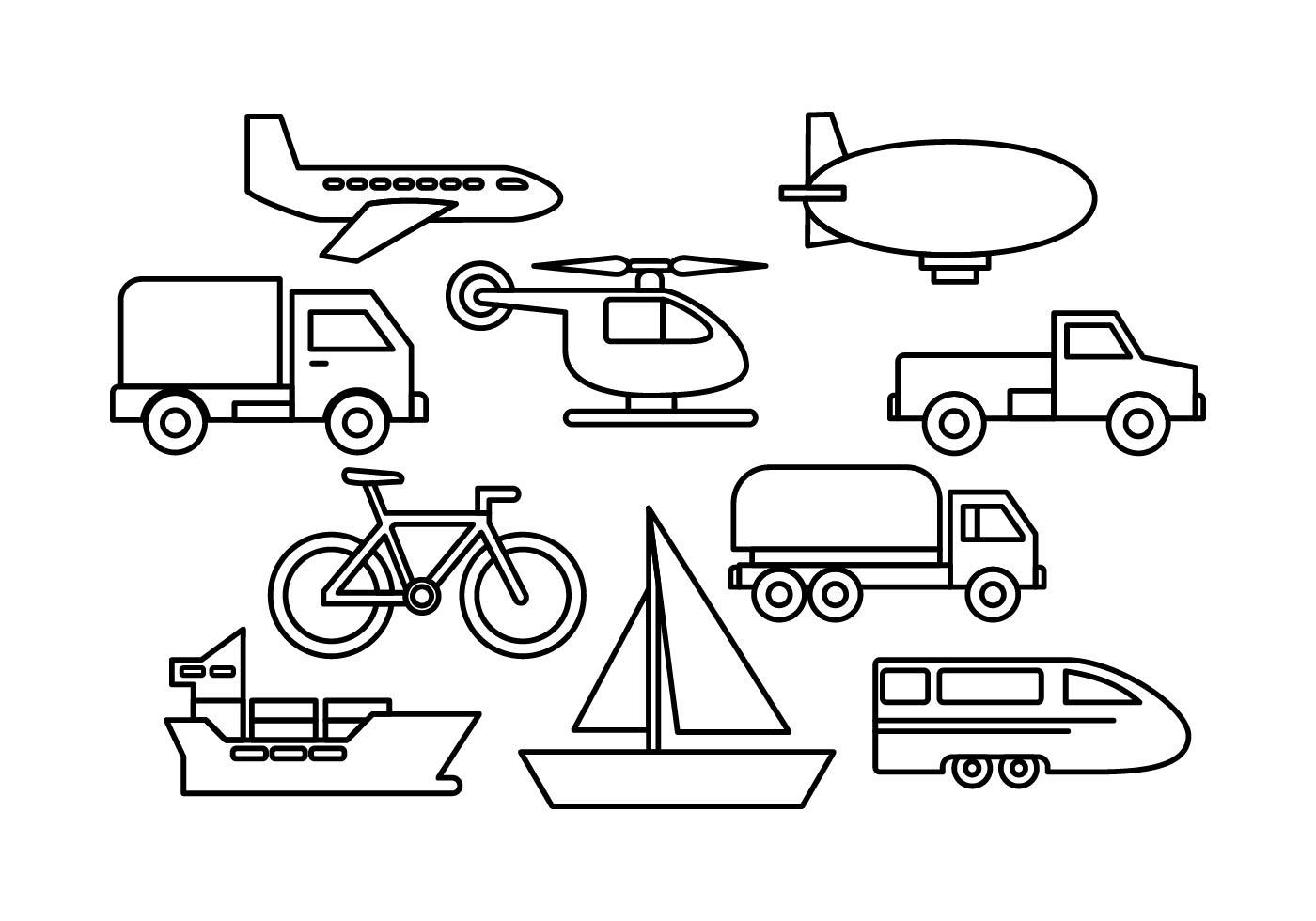 Free Transportation Vectors
