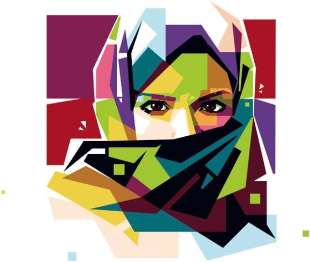 Hijab Free Vector Art  Free Downloads