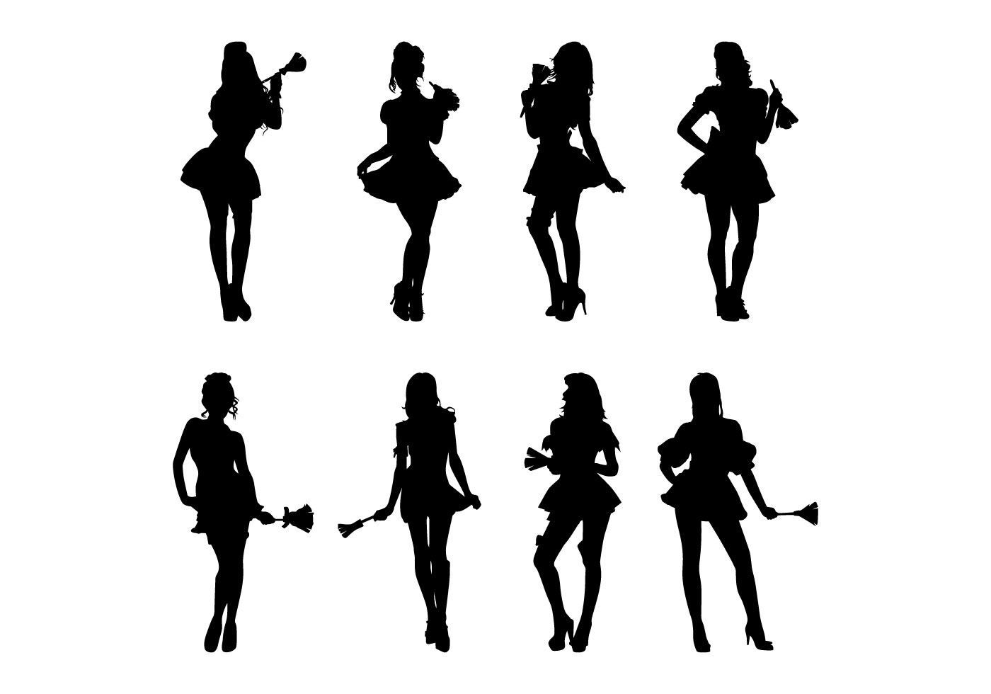 Maid Silhouettes Vector