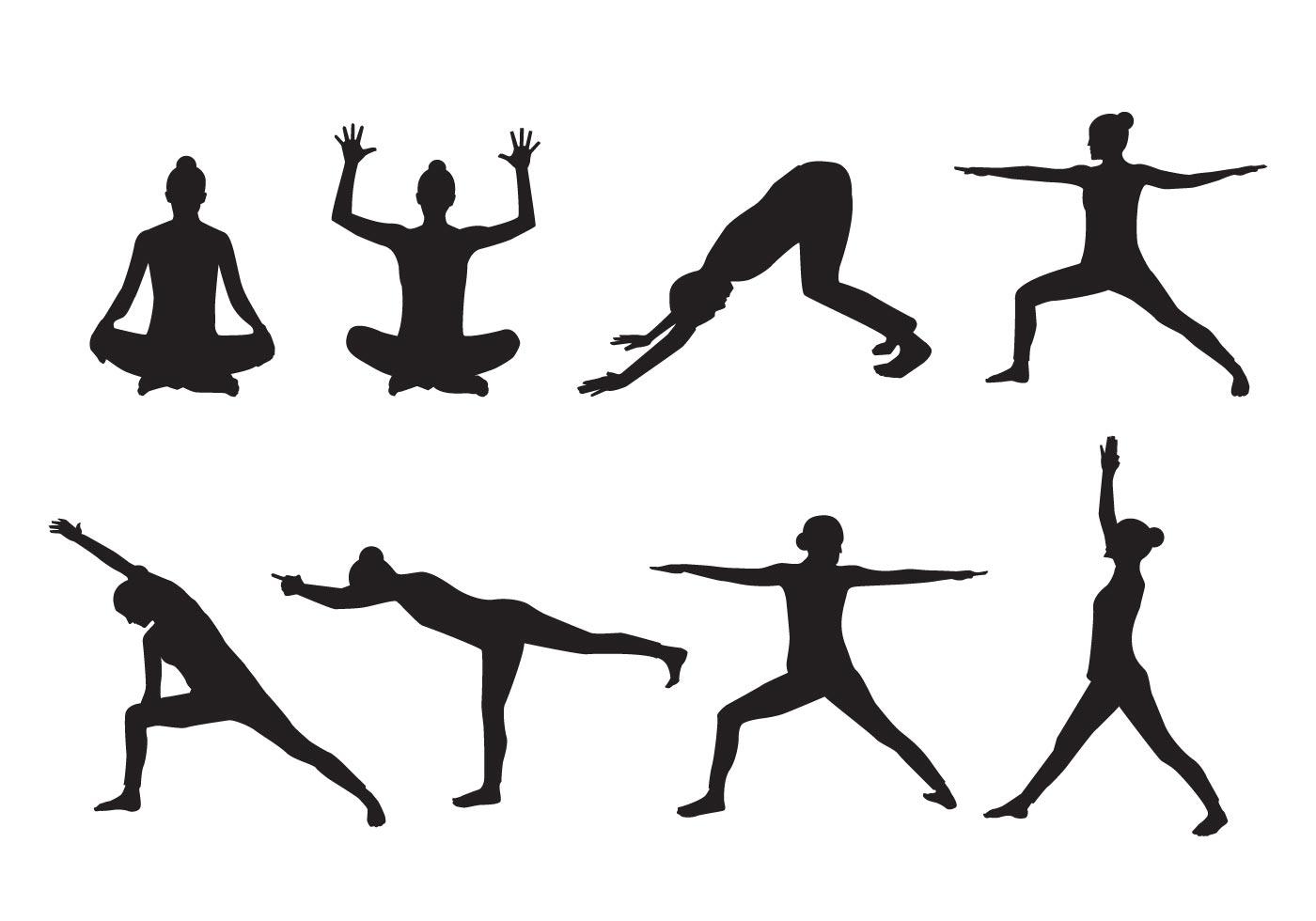 Woman Yoga Silhouette Vector