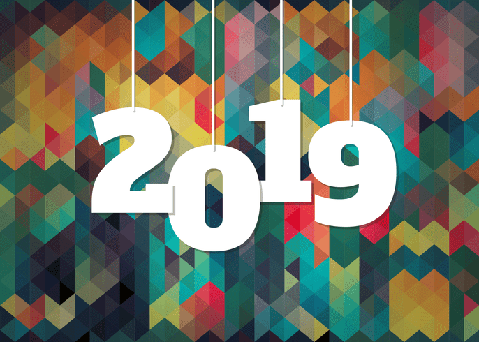 Colorful Background For 2019 New Year Celebration   Download Free     Colorful Background For 2019 New Year Celebration