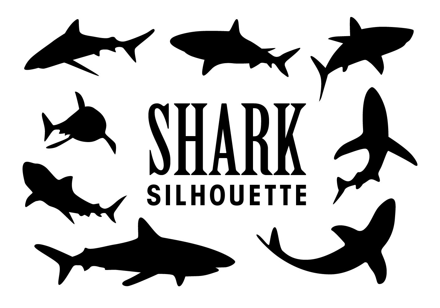 Vector Shark Silhouettes