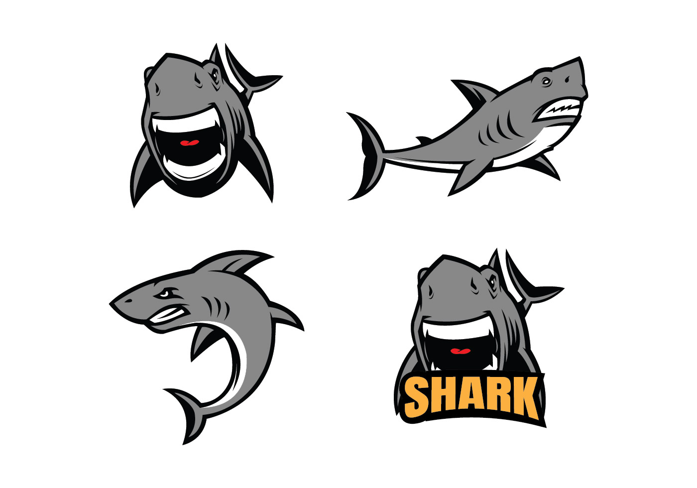 Shark Mascot Free Vector Art