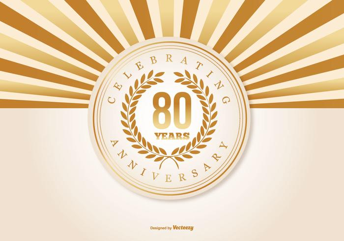 Download 80th Anniversary Illustration - Download Free Vectors ...