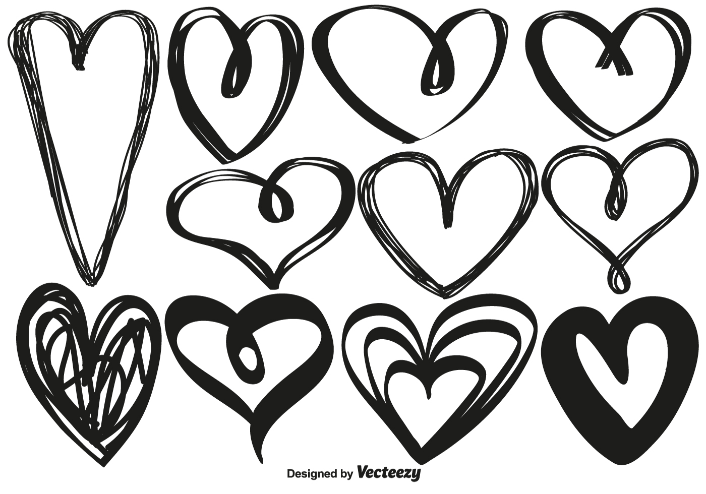 Hand Drawn Heart Free Vector Art