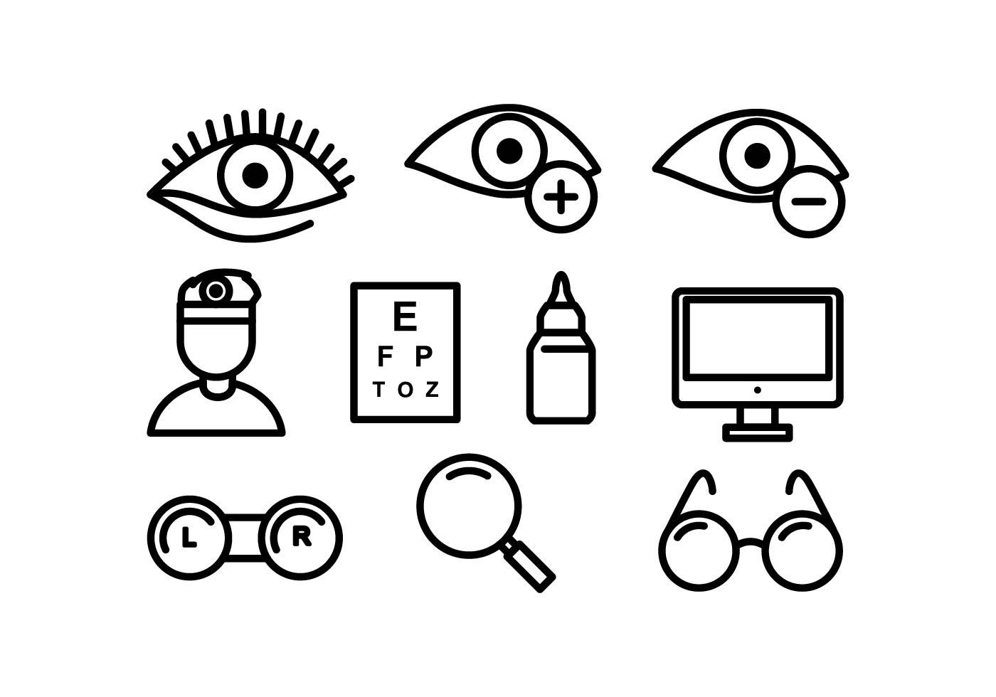 Eye Doctor Vector Icons