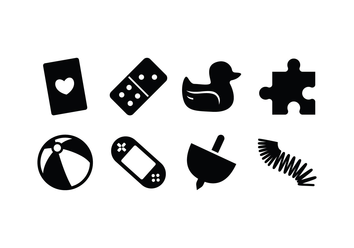 Silhouette Spielzeug Icon Vektoren