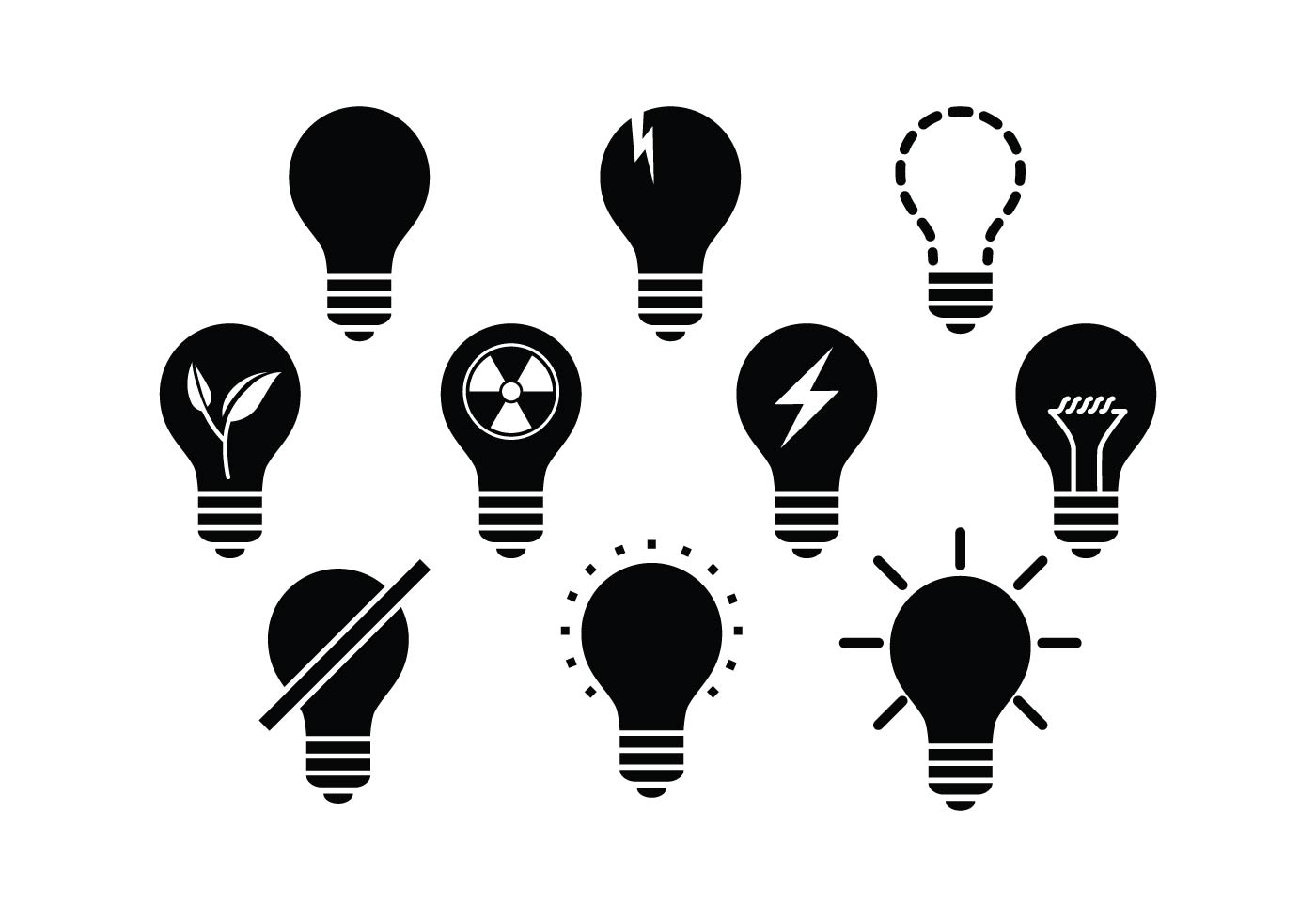 Lamps Icon Vector