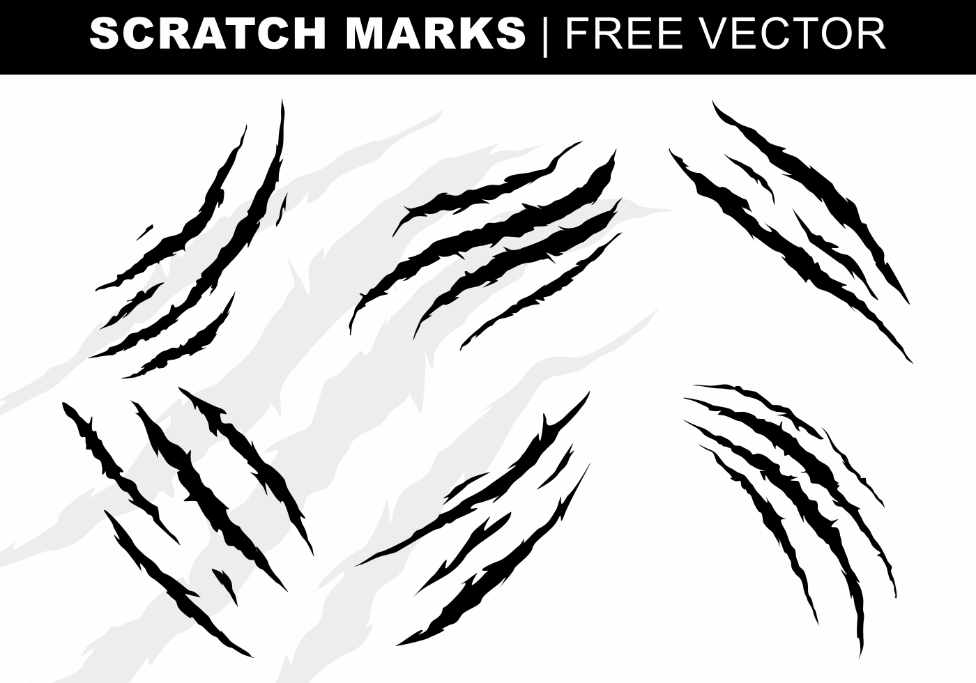 Claw Marks Free Vector Art