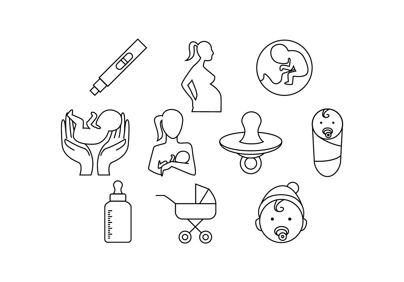 Free Maternity Line Icon Vector
