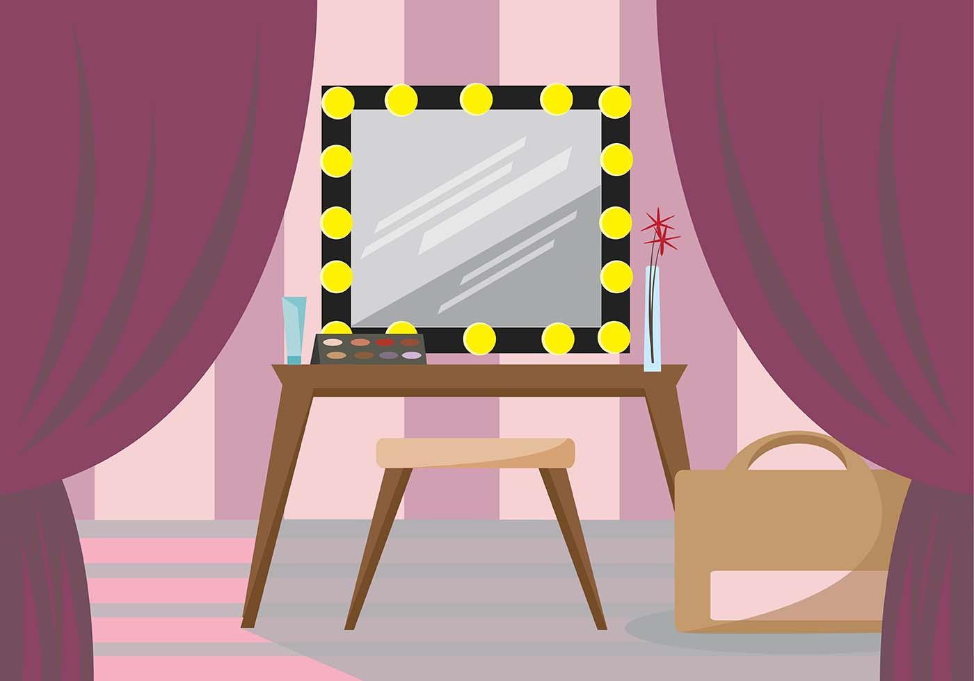 Feminine Dressing Room Vector Scene Download Free Vector