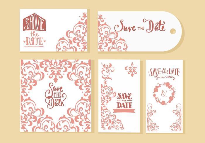 Free Wedding Invitation Cards Vector