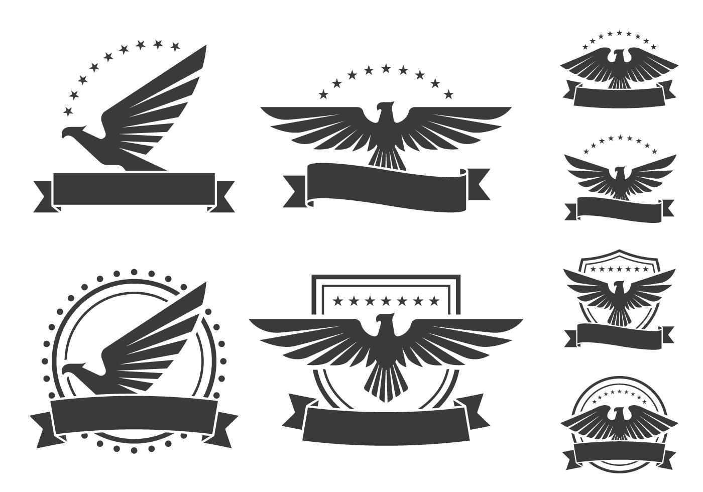 Eagle Emblems Shield Icons