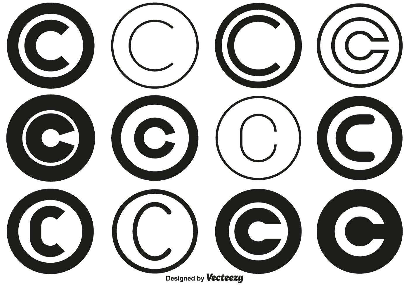 Colecao Do Simbolo De Copyright Do Vetor