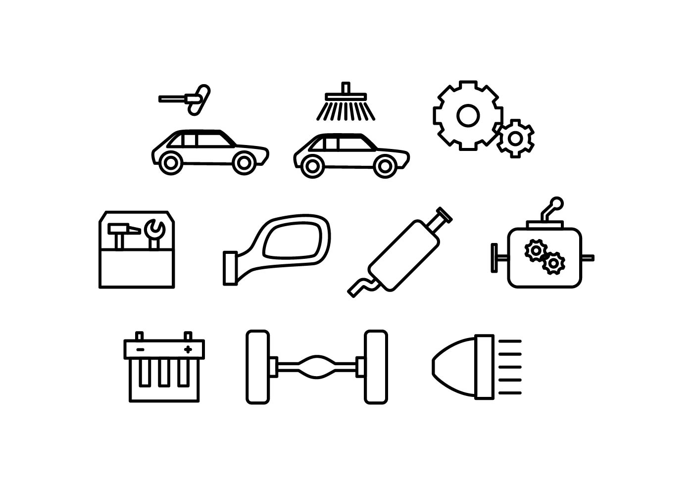 Automotive Background Free Vector Art