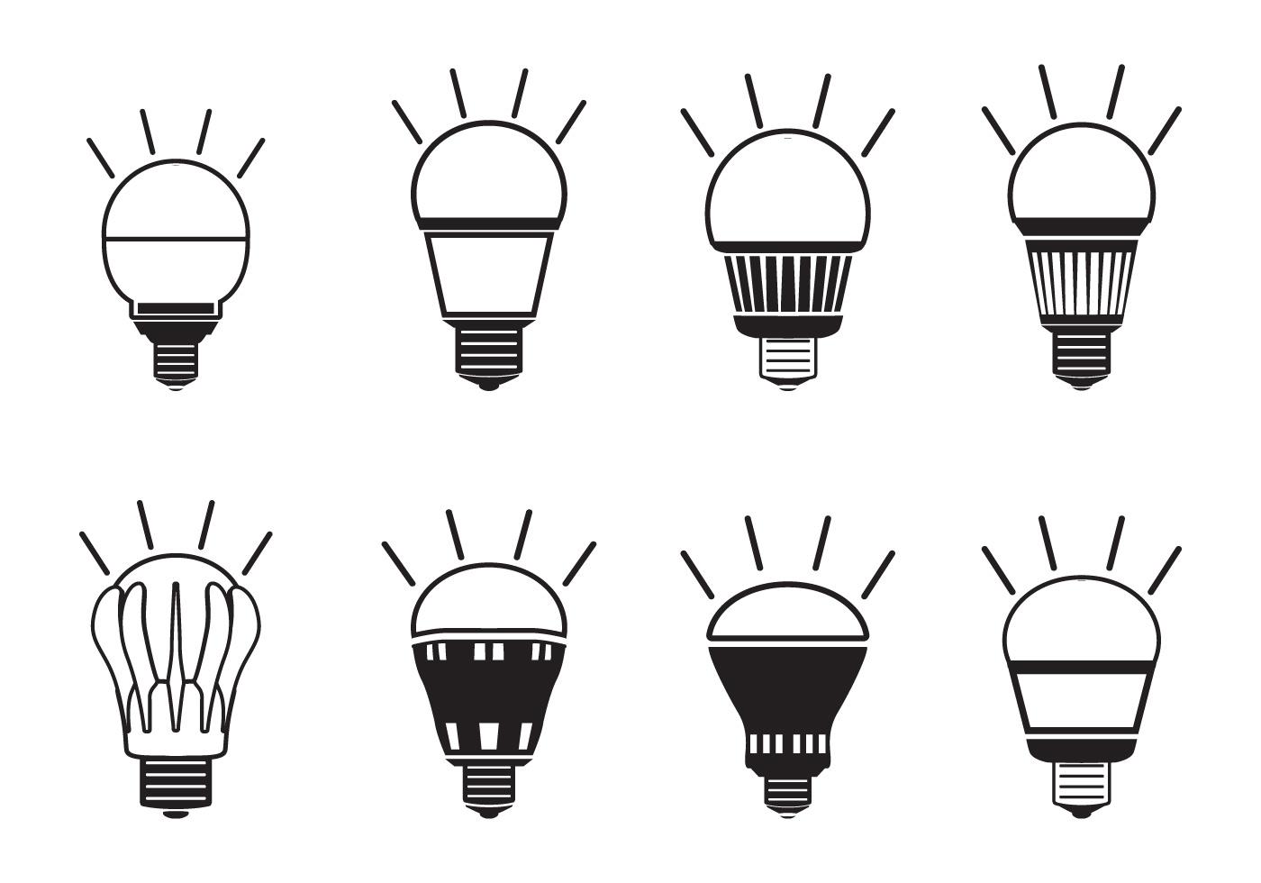 Led Light Icon Set
